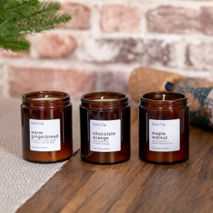 Trio of amber candles