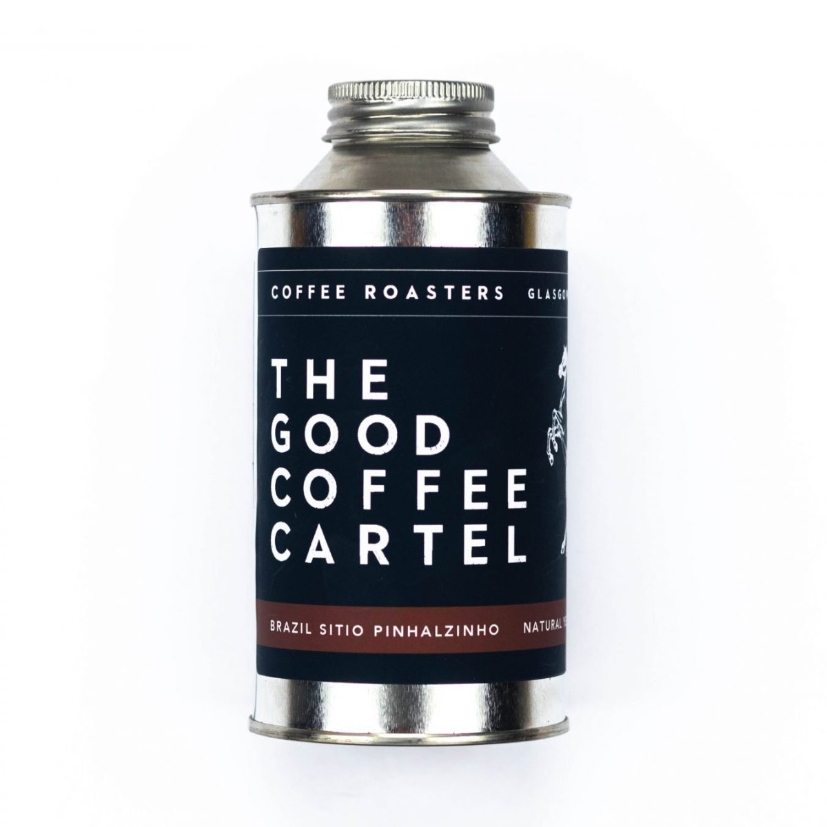 Tin of coffee from The Good Coffee Cartel