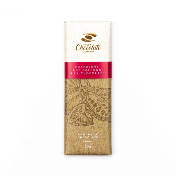 The New Chocolate Company raspberry and saffron chocolate