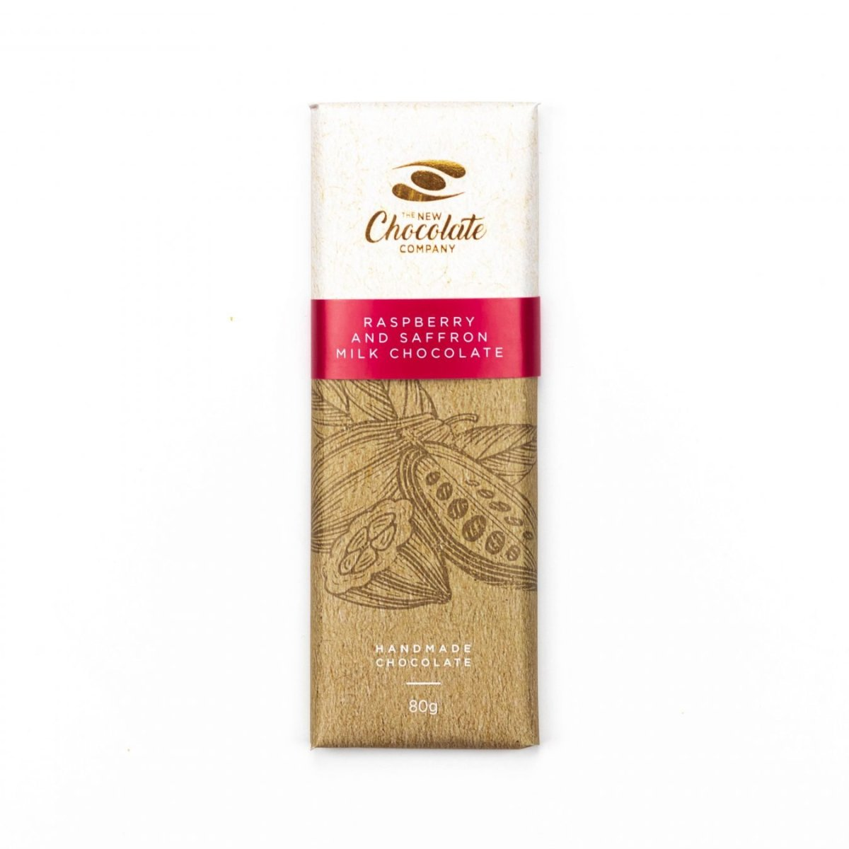 The New Chocolate Company raspberry and saffron chocolate