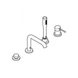 grohe essence combine bain douche mitigeur monocommande montage quatre trous chrome