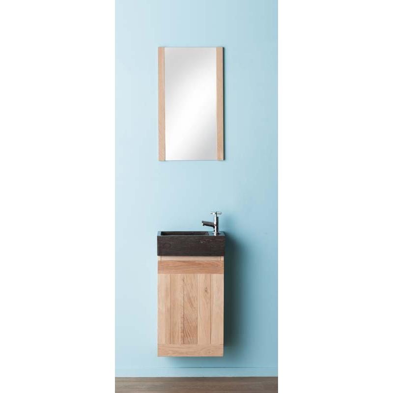 ensemble meuble lave mains banio janko chene clair hauteur 60 largeur 38 8 profondeur 21 7