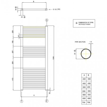 Radiateur Seches Serviettes Chauffage Centrale Ou Electrique Thermostatique