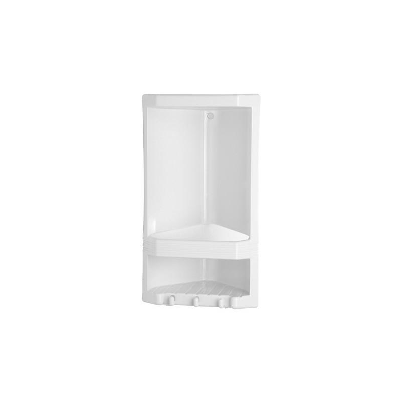 gedy junior porte savon d angle 22x14x38 cm blanc