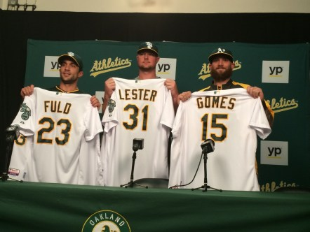 There and back again: Gomes returned to the A's in 2014 via trade. Source: sfgate.com