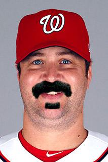 Baseball Mustache - Matt Albers