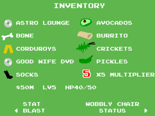 Effectively Wild video game - inventory