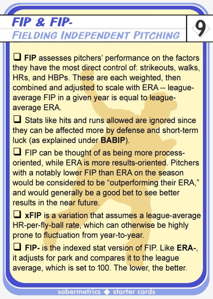 Sabermetrics Starter Baseball Cards - 09 - FIP description