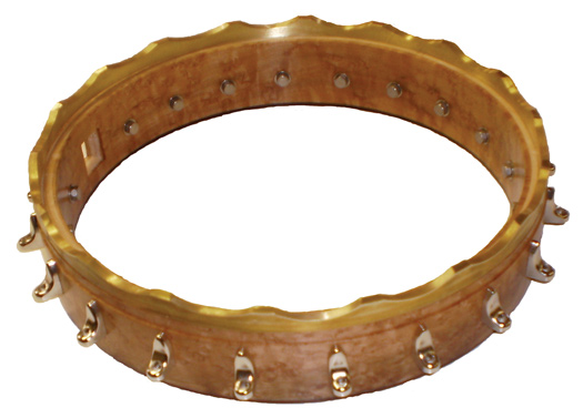 The scalloped secondary tone ring for a Whyte Lady banjo tone ring