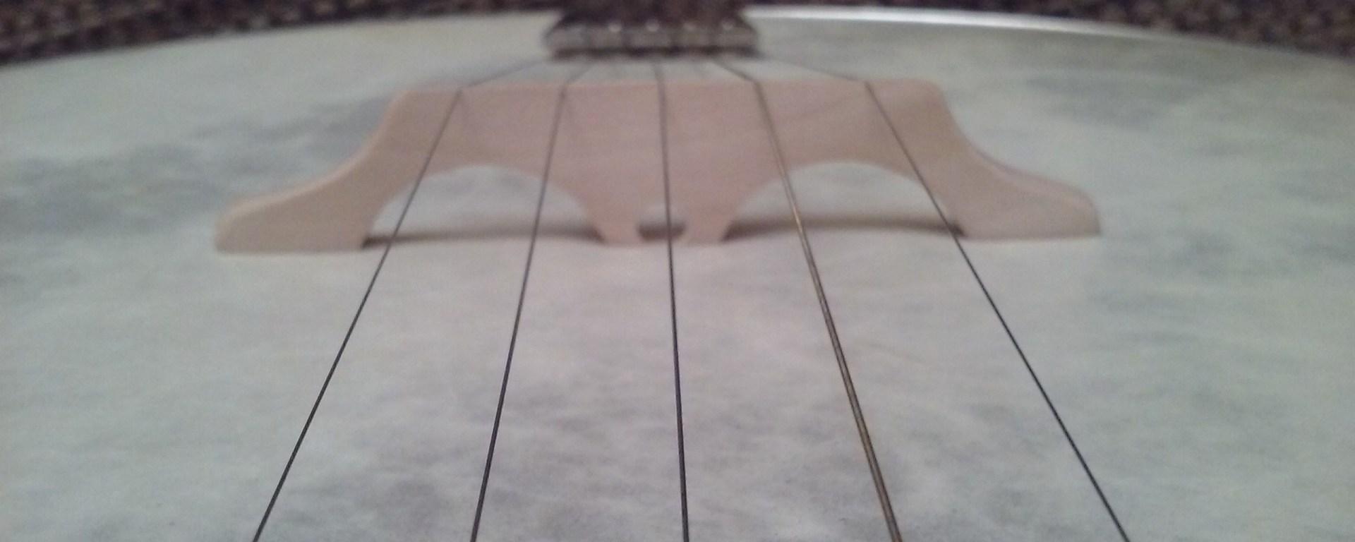 Custom banjo bridge by Mac Traynham