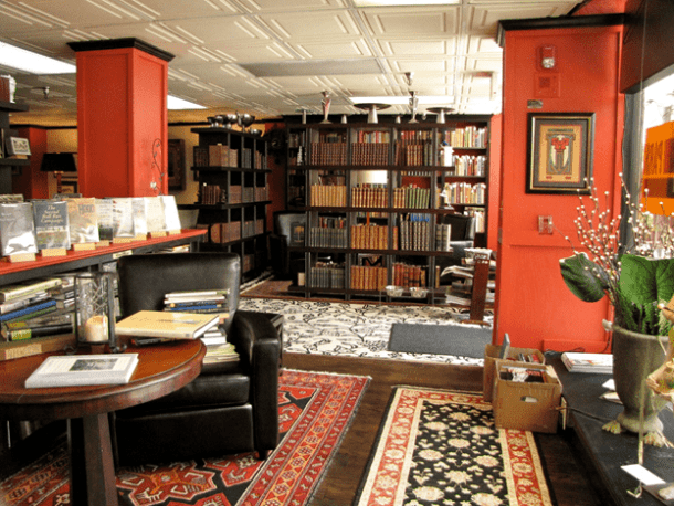 A view of a fancy book store