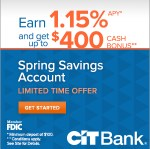 CITBank Spring Savings Account Promo