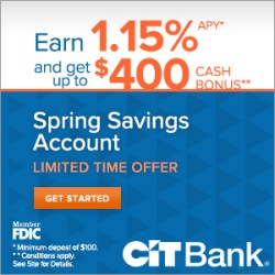 CITBank Spring Savings Account Promo