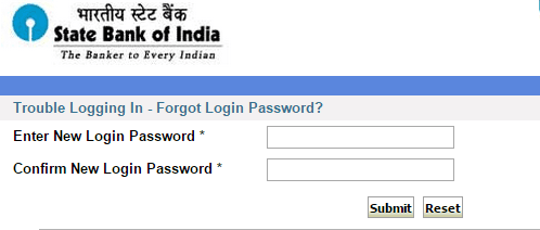 new login password sbi
