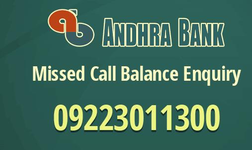 andhra bank balance check online