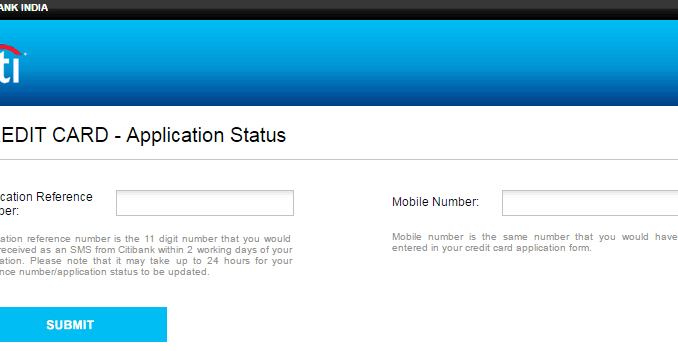 track citibank credit card status online