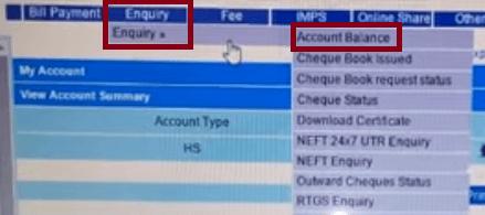 cbi online balance check