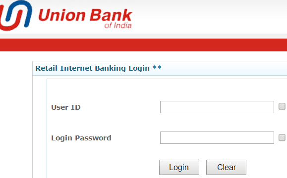 union bank of india login page