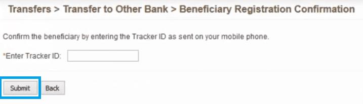tracker id bank of baroda