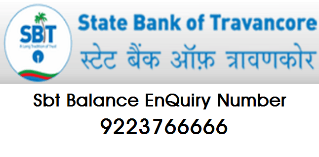sbt balance enquiry number