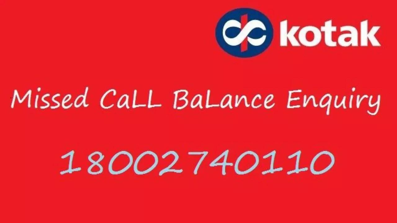 Check Kotak Mahindra Bank Balance Via Online Missed Call Sms