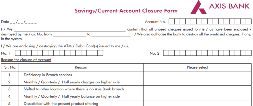 How To Close Axis Bank Account Online