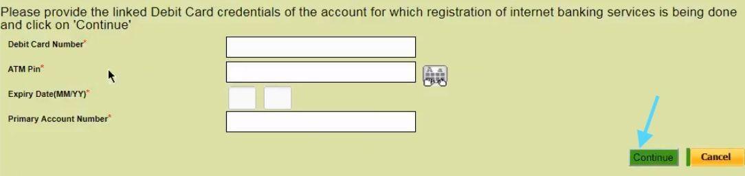debit card details obc net banking