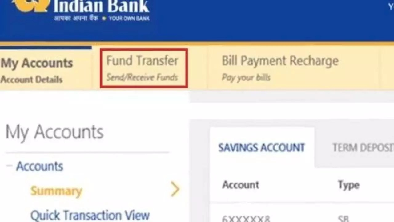 How To Transfer Money From Indian Bank To Other Banks Online
