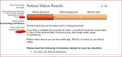 irs refund status received approved sent banking 123