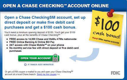 chase bank online deposit