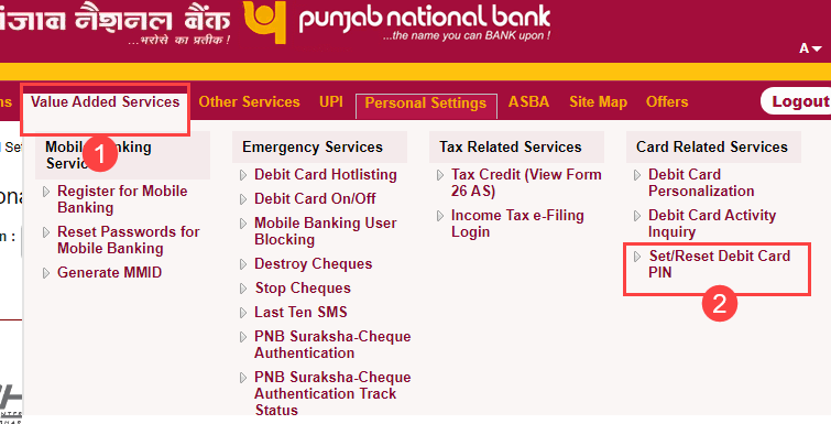 How To Generate Pnb Atm Pin Online Through Net Banking Bankingidea Org