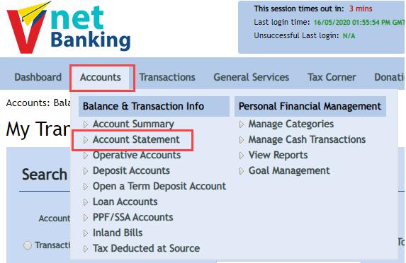 How To Get Vijaya Bank Account Statement Online Bankingidea Org