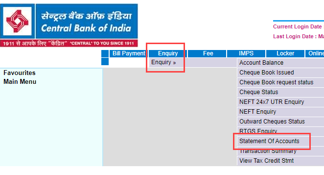 How To Download Central Bank Of India Statement Online Bankingidea Org