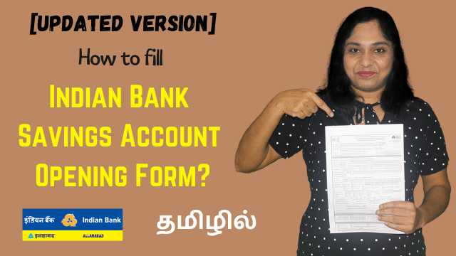 Update How To Fill Indian Bank Savings Account Opening Form 4 Pages Form Fill Up
