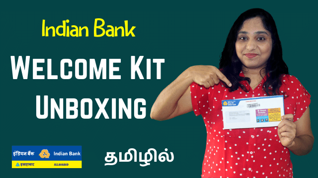 Indian Bank Welcome Kit Unboxing Debit Card Unboxing Indian Bank Online Account Opening Welcome Kit