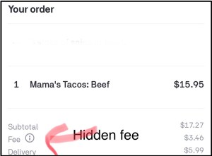 Postmates App is misleading customers with a hidden fee (3