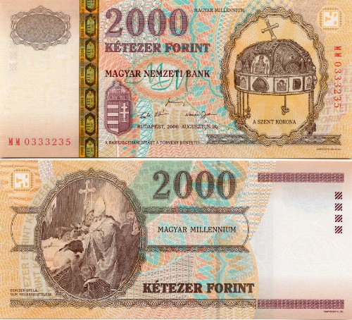 Hungary Forint  Hungarian Currency Bank Note Image