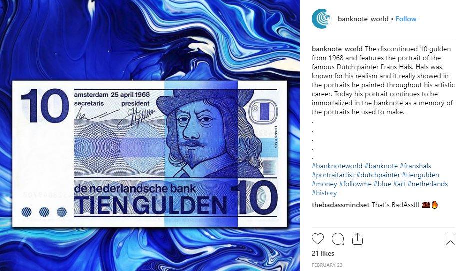 banknote world instagram