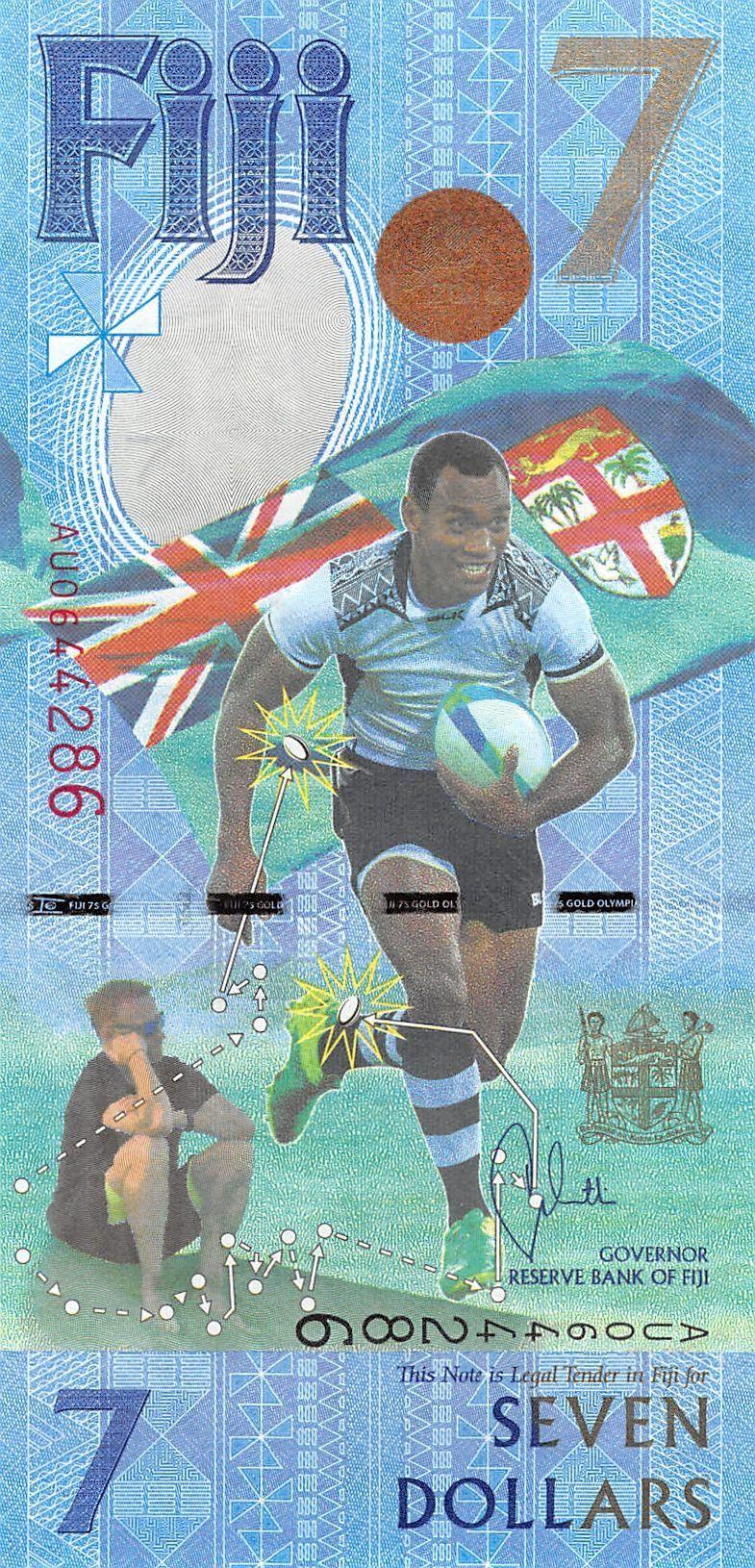 Fiji 7 dollar banknote
