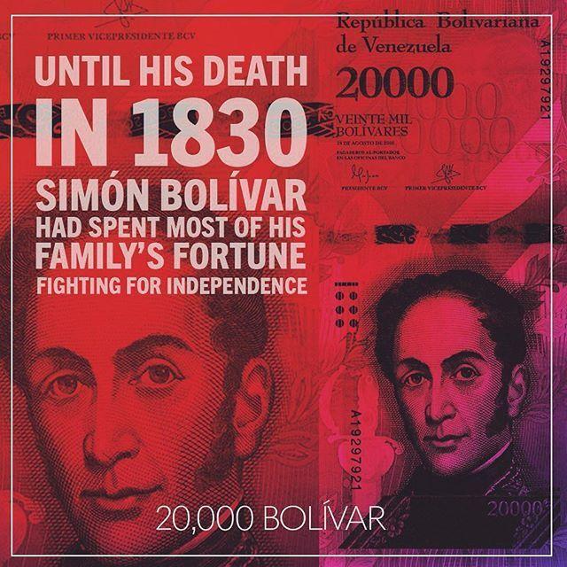 Simon Bolivar on Banknote World's Instagram Page