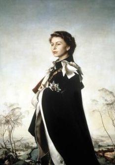 Painting by Pietro Annigoni, Queen Regent, 1955.