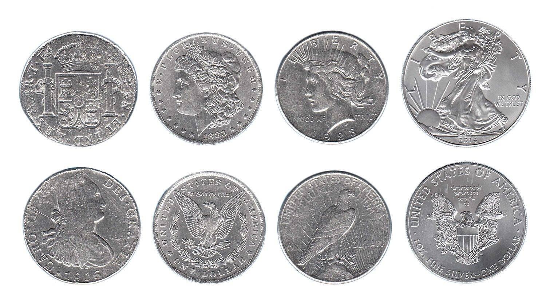 Usa 1 Dollar X 4 Pcs 1oz Coin Set Mint 4