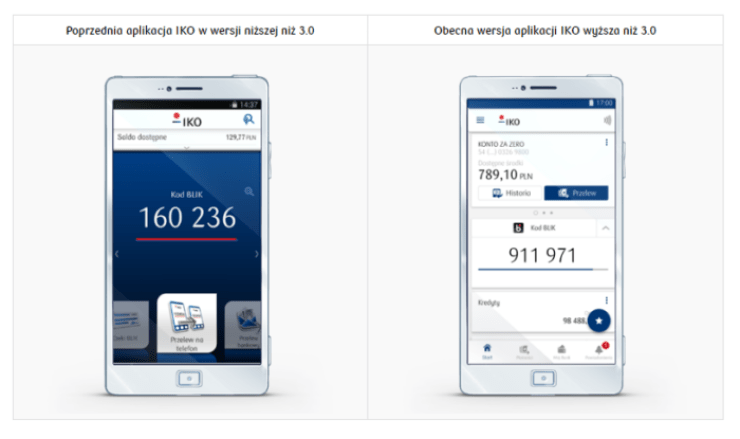 Aplikacja mobilna IKO wyłączenie wersji niższej niż 3.0.