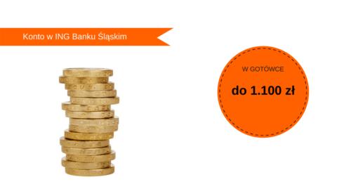 100 zł gotówce za otwarcie konta w ING Banku Śląskim + do 1 000 zł z poleceń.
