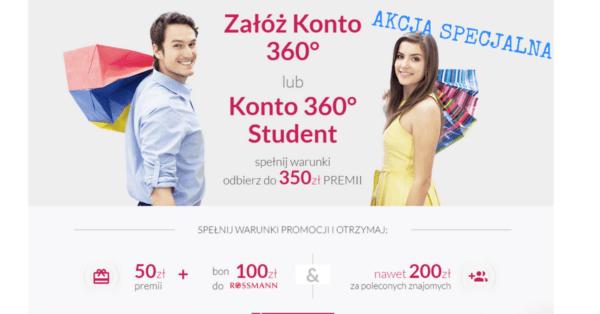 350 zł do odebrania w promocji Konta 360 Banku Millenium.