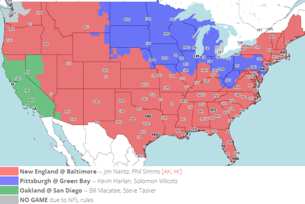 Week 16 NFL Local TV Schedule