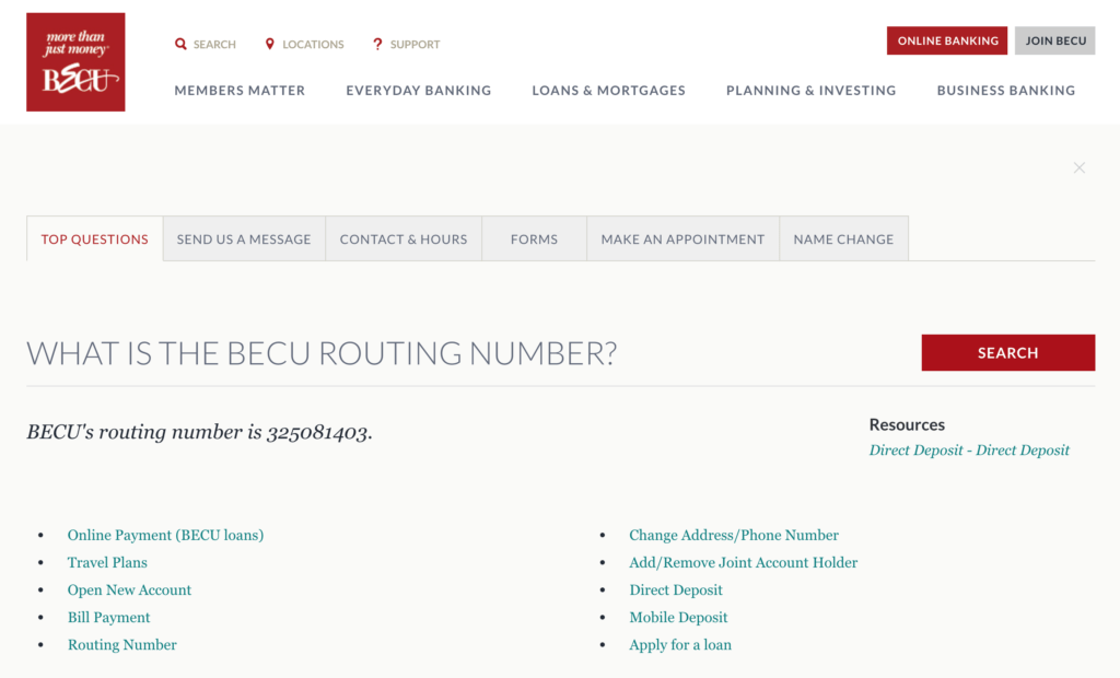 BECU Routing Number and Locations - A Complete List (325081403)