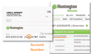 Huntington bank details for routing number