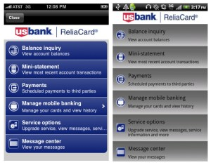 US Bank ReliaCard Mobile App