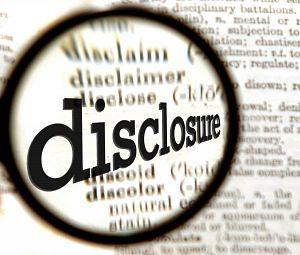 bankruptcy disclosure